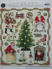 Gifted Line Vtg Stickers Christmas Tree Santa Claus Toys Borders John Grossman &