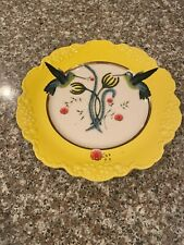 "Anthropologie Lou Rota Nature Table 9"" Hummingbird Plate Dessert Salad"