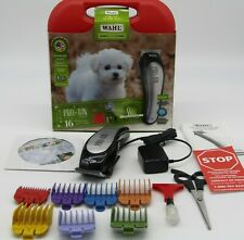 Wahl Clipper Lithium PRO Ion Cordless Haircutting Trimming Dog Grooming 15pc Kit