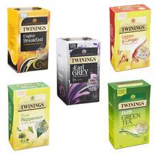 5 type de Twinings Earl Grey, pure de Menthe Poivrée, Thé Vert, Lemon & Ginger S...