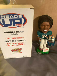 2002 RICKY WILLIAMS Miami Dolphins Heads Up BOBBLEHEAD Limited 1000 MINT in BOX