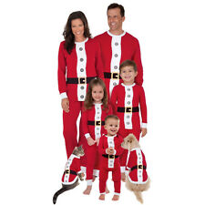 Christmas Family Matching Santa Claus Pajamas Set Women Kids Sleepwear Nightwear
