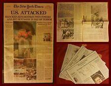 New York Times giornale 11 Settembre 2001 - 9/11 NY terrorist twin towers attack