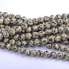 40Pcs Natural Dalmation Spot Gemstone Round Spacer Loose Beads 4MM #14