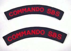 COMMANDO SBS SHOULDER CLOTH BADGE ( BLACK LIGHT TESTED )