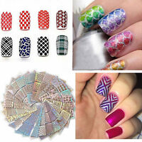 3D 24 Sheet Nail Art Transfer Stickers Decal Manicure Tips DIY Decoration Tool U