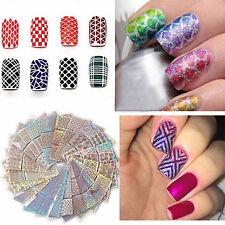 24 Sheet Nail Art Transfer Stickers Decal 3D Manicure Tips DIY Decoration Tool U