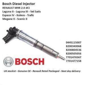 Brand New Genuine Renault - Diesel Fuel Injector - 0445115007 2.0 Dci M9R