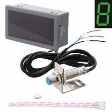 LED 4 Digital Tachometer RPM Speed Meter + NPN Hall Proximity Switch Sensor