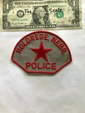 Old Holdrege Nebraska Police Patch Un-sewn in great shape
