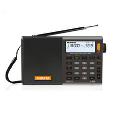 XHDATA D-808 Portable Digital FM Stereo/SW/MW/LW SSB RDS Air Band Multi Speaker