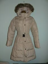 M&S collection Padded Duck Down & Feather Coat Jacket size small stone colour