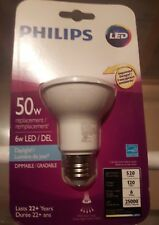 4 pack Philips LED PAR20 daylight 6w (50 watt equivalent)120 vlts Dimmable