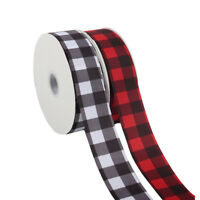 "2Yards/roll 2"" 50mm Plaid Grid Grosgrain Ribbon Tape DIY Hair bow Craft Material"