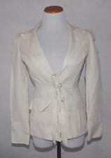 DVF Diane von Furstenberg Ivory Blazer Size 4 Jacket Silk Blend Riana Career