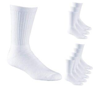 Boys Sports White Cotton Ribbed Socks UK sizes 5.5 - 11 Multipacks