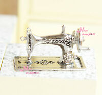 Silver TOY Table Sewing Machine  1/12 Dollhouse Miniature