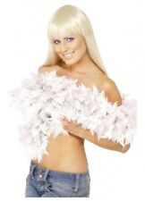 Delux White Feather Boa 1920's 1920s Costume Party Fancy Dress Burlesque Flapper