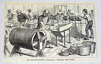 1878 magazine engraving ~ MATCH FACTORY, Havana ~ Cuba