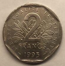 M197 Rare 2 Francs Semeuse Nickel 1993 Spl Monnaie Française