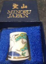 Lovely Minoru Japanese Thimble Typical Design Plus Box