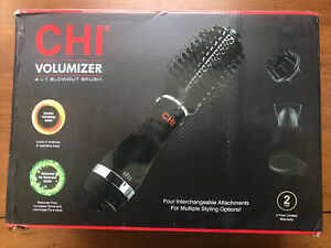 CHI Volumizer 4-in-1 Blowout Brush Black (CA7557) NEW Open Box