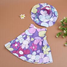 Handmade Mode Puppe-Sommer-Kleid u. Hut-Kleidung für 18 Zoll Puppe-Abnutzungs