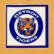1980s OLD DETROIT TIGERS LOGO 4 inch DECAL STICKER BUMPER Unused Team Stock