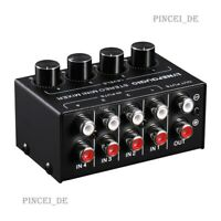 4 Channel Passive Stereo Mixer Mini B896 for CD Tape Player Computer  Phone