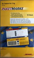 10 Stück DHL Paketmarken Europa Bis 5kg