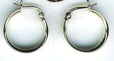 """925 Sterling Silver Wide Flat Edge Round Hoop Earrings  Diameter 20mm 3/4"""""""