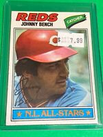 🔥 1977 TOPPS Baseball Card Set #70 🔥 CINCINNATI REDS 🔥 JOHNNY BENCH