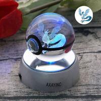 Pokemon Go Articuno 3D Kristall Pokeball Tischlampe Nachtlicht Nachttischlampe