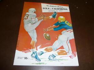 1954 UCLA AT CALIFORNIA COLLEGE FOOTBALL PROGRAM EX-MINT PLUS