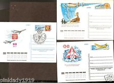 RUSSIA USSR  NOYTA CCCP  3 1980 ABHA 3 STAMP CARDS