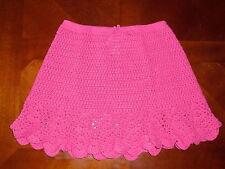 Gymboree Floral Reef pink knit crochet sweater skirt po 5t 5 summer girls