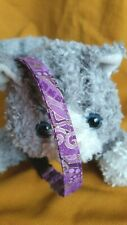 Handmade Fabric Cat Collar - Purple Passion With Gold Accents .Cat's Meow