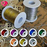 Metallic Cord Tinsel String Sewing Thread Spool Jewelry Beading Crafts Gift Tag