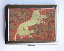 Art Nouveau Horse Cigarette Case Wallet Business Card Holder