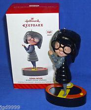 Hallmark Ornament Disney Pixar Legends #4 2014 The Incredibles Edna Mode Sound