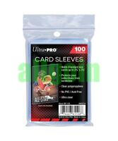 100 Bustine ULTRA PRO CLEAR SOFT SLEEVES 66x91 mm CARTE Magic Keyforge Pokemon
