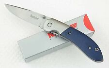 New in Box 3160BLWM Crown Kershaw Pocket Knife blue micarta handle knives