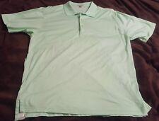 Peter Millar 2XL Polo Shirt  XXL Mint Green White Stripe Short Sleeve