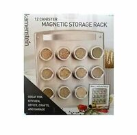 Kamenstein 12 Canister Magnetic Storage Rack - Wall Mountable