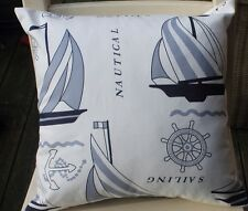 NEW IN!  NAUTICAL CUSHION IN A QUALITY COTTON CANVAS
