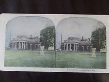 "c. 1900 3d COLOUR STEREOGRAPH/ STEREOGRAM PHOTO CARD    ""Home of Jefferson..."""