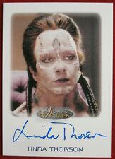 STAR TREK NEXT GENERATION - LINDA THORSON - Personally Signed Autograph Card