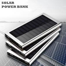Slim 100000mAh Solar Power Bank Mobile BatteryCharger For Smart Phones UK Seller