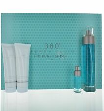 360 Men by Perry Ellis 4 piece gift set for Men Eau de Toilette 3.3 oz