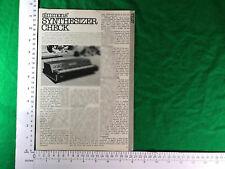 Korg Polyphonic Ensemble PE 2000 Electronic Keyboard Review 1978 vintage PE2000